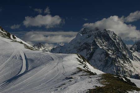 caucasus: Ski slope, the Caucasus