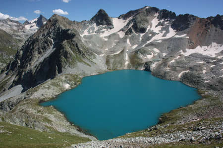 murudzhinskoe blue lake, west caucasus Stock Photo