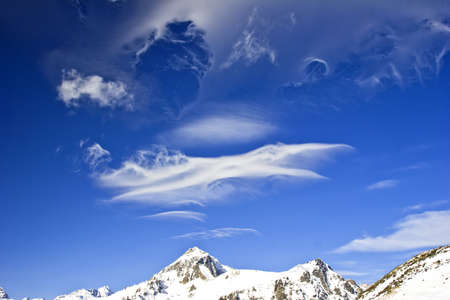 turbulence: beautiful cloud forms in the area of atmospheric turbulence