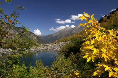 Autumn in the Caucasus, Badukskie Lake, the Caucasus photo