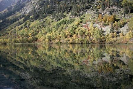 autumn in the caucasus, badukskie lake, the caucasus photo