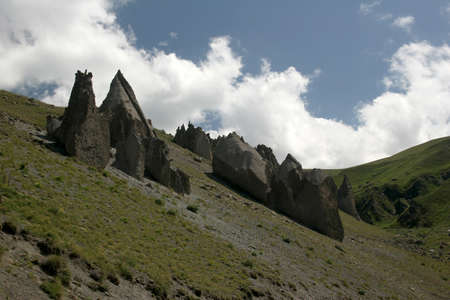 pyramid peak: Elbrus, the Valley of the Pyramids, the place of medical sources