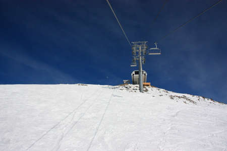Winter mountains on a sunny day, the resorts of the Caucasus photo