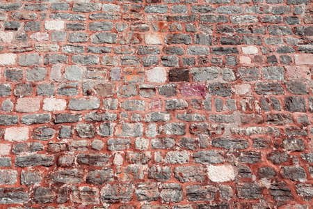 The city red wall of stone photo