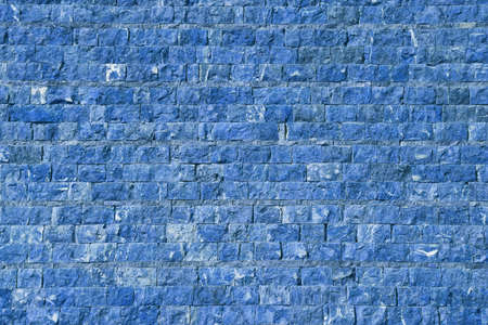 The city wall of stone in blue tint photo