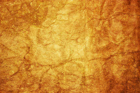 Cracked orange wall texture background
