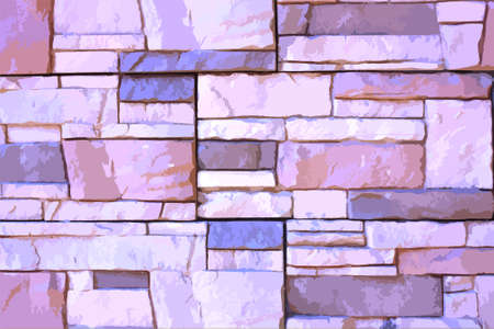 Abstract background for design, stone blocks wall, illustration