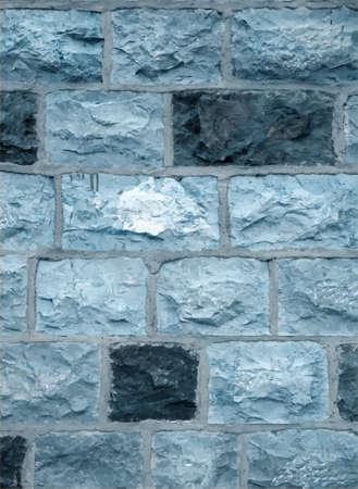 Blue stone blocks wall, texture background