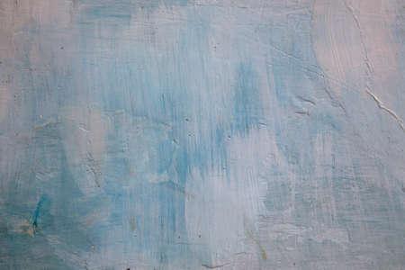 whitewash: Grunge background blue wall whitewash lime plaster,