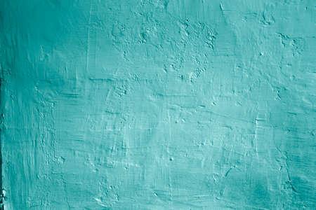 whitewash: Grunge background blue wall whitewash lime plaster