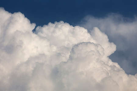 cumulus: Sunny day. Cumulus cloud. Beautiful clouds and blue sky background