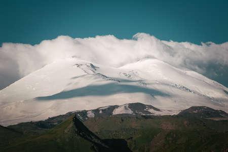 close range: Mountain landscape. Elbrus top of the picture at close range, the Caucasus.
