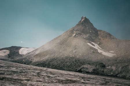 top seven: Mountain peak and glacier snowfields, Pyramid Peak - Peak Shambhala Caucasian Kalitsky