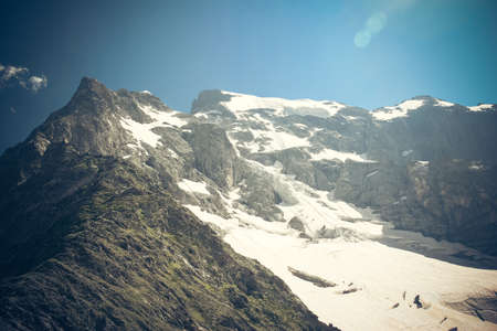 top seven: Mountain landscape. Glacier. The picture at close range Stock Photo