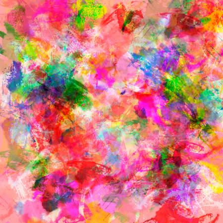 Abstract colored paper. Colored paint stains isolated on red background.