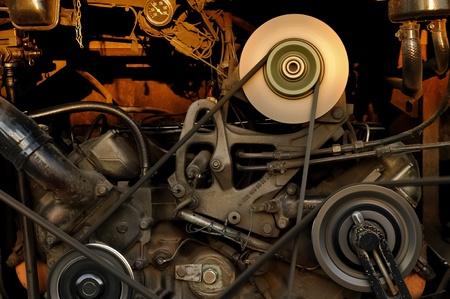mechanical: De motor airconditioned bus. Stockfoto