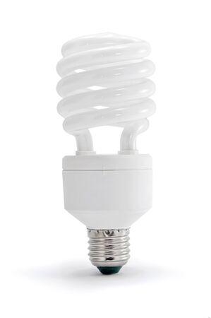 eficacia: Ahorro de luz sobre fondo blanco de energ�a.
