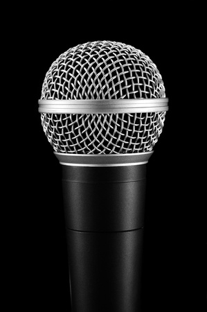 microphone on black background. photo