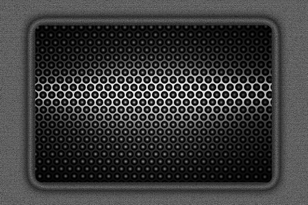 metal grating in a frame rectangle. Stock Photo - 10394301