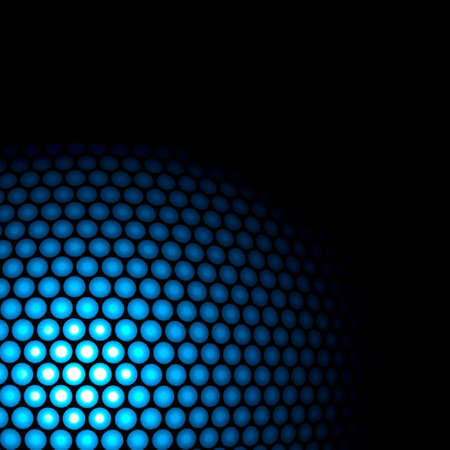 Abstract circles on black background