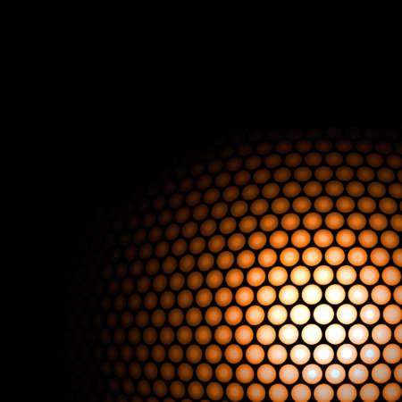 Abstract circle orange on black background.