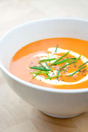 tomatto: A Bowl of orange Soup