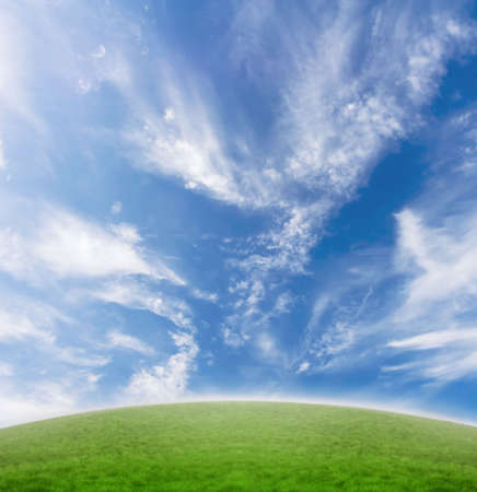 Simple beautiful blue and green horizon background Stock Photo - 2283585