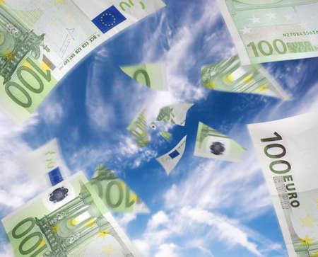 flujo de dinero: Concepto de dinero o el flujo de caja, positivos o negativos.