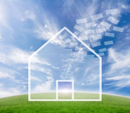 new account: Concept for real estate business and  home safety.