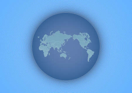 Illustration of the world globe stylized with the world map in perfect proportions. Stock Illustration - 2376052