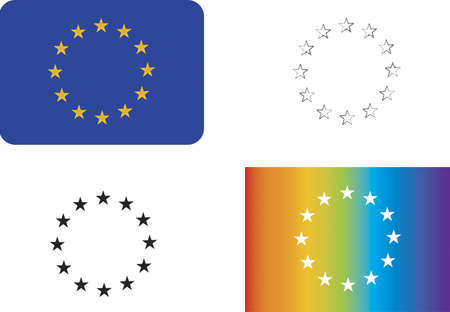 eu: Different variations of the EU symbol.