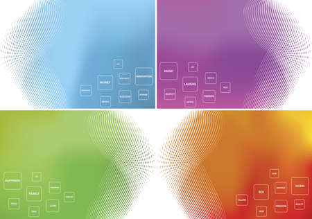 Colorful blend backgrounds Illustration