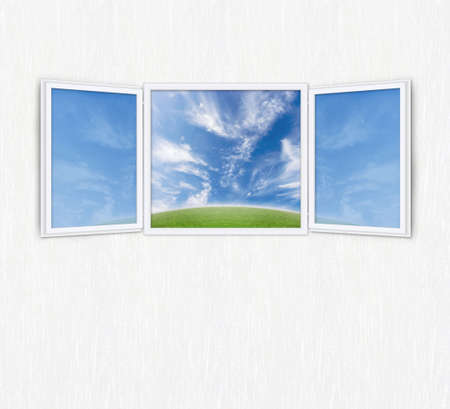 Conceptual shot of freedom and dreaming in real estate business with copy space for design. Room for cropping. photo