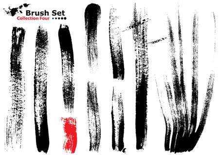Collection of highly detailed vector illustration brushes - set 4