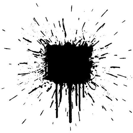 Vector illustration of a grunge ink splatter design element. Explosion. Stock Vector - 2639950