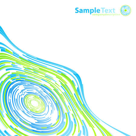 Vector illustration of modern abstract lined circles flowing outwards. Highly detailed.