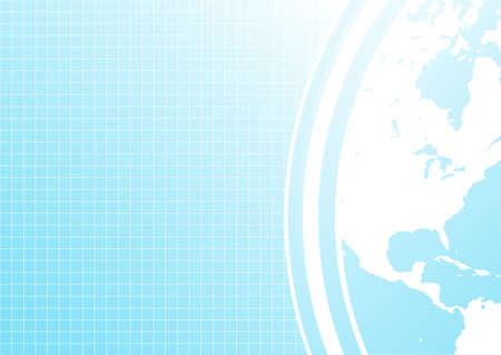Vector illustration of a slick modern business background with corner world map detail. illustration