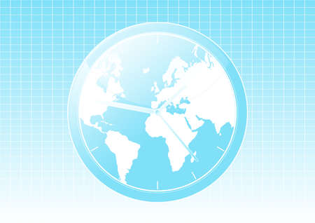 Vector illustration of a conceptual global world clock background. illustration