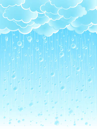 Vector illustration of a beautiful light summer shower rainy weather background. illustration