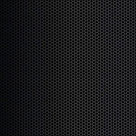 Vector illustration of a simple hexagon shapes background with metallic gradient. Technological feel. Stock Illustration - 3351097