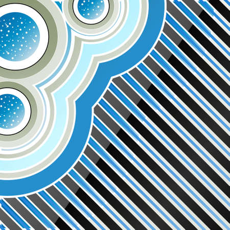 showering: Vector illustration of a conceptual abstract nature rain background with water showering in modern circles. Illustration