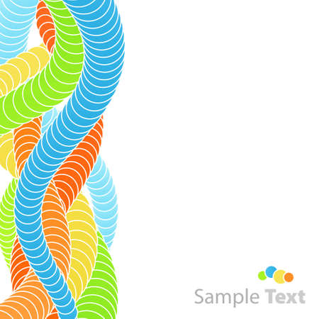 Vector illustration of an abstract circles flow background. Celebration concept. Vector