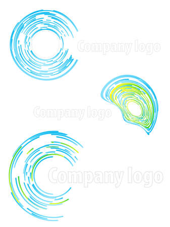 slick: Vector illustration of three highly detailed abstract company logos. Illustration