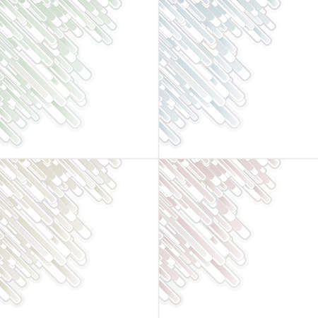 separate: Vector illustration of four flowing abstract modern backgrounds. Divided on separate layers.