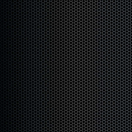 Vector illustration of a simple hexagon shapes background with metallic gradient. Technological feel.