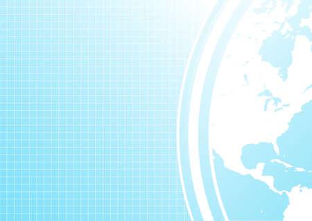 geschniegelt: Vector illustration einer glatten modernen Hintergrund mit Eck-Weltkarte Detail. Illustration