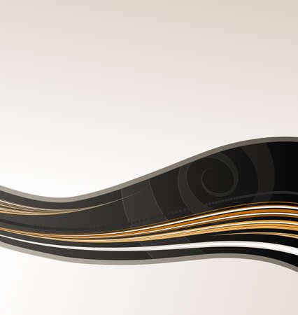 Vector illustration of a slick modern lined art background. illustration