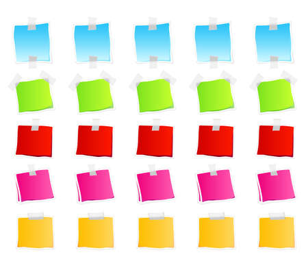 Vector illustration of sticky retail notes. 25 elements in vaus colorful versions. Stock Illustration - 3496503