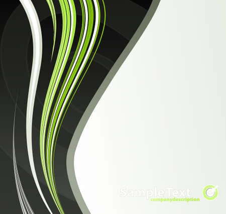 slick: Vector illustration of a slick modern lined art background with sample logo.