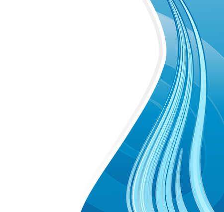 Vector illustration of a slick modern lined art  with sample logo. Stock Illustration - 3625753